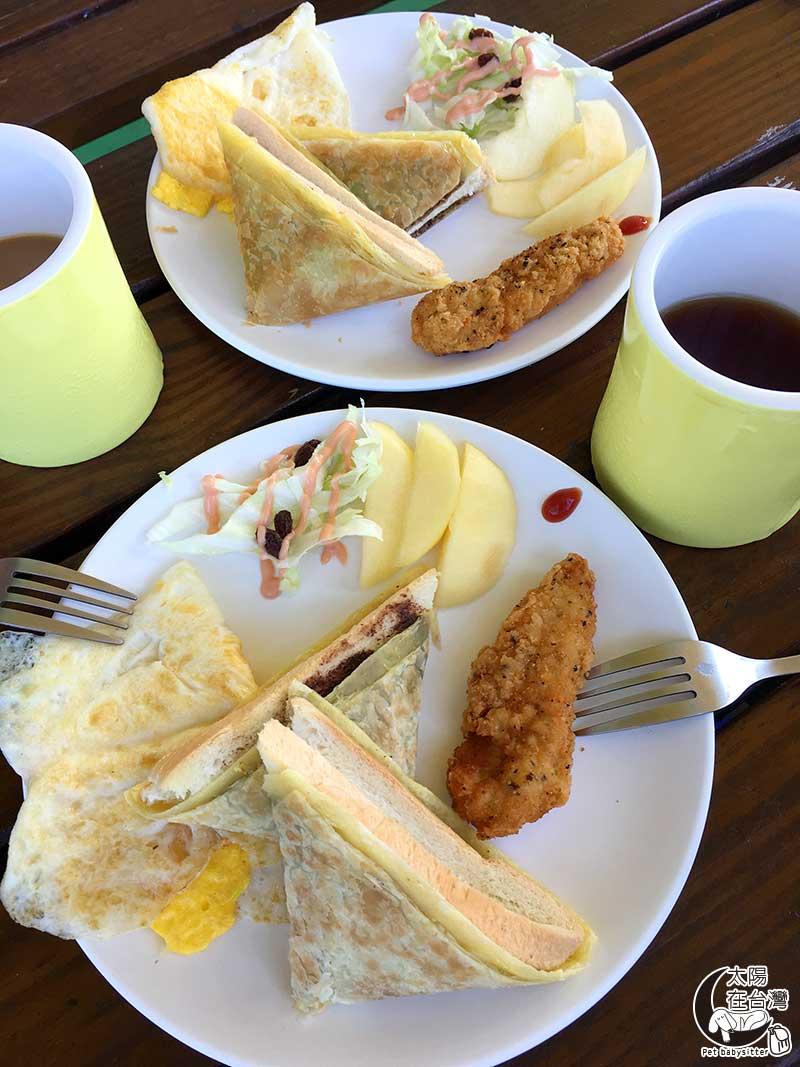 白沙灣32號民宿早餐-綠島寵物旅遊-太陽在台灣